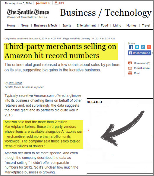 Amazon 3rd party merchants