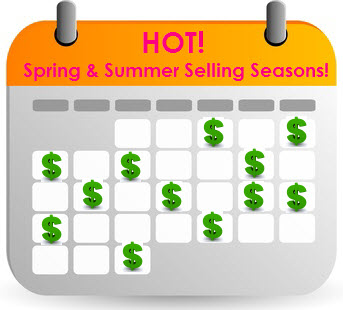30 Hot Spring & Summer Selling Seasons to Capitalize on from March-June